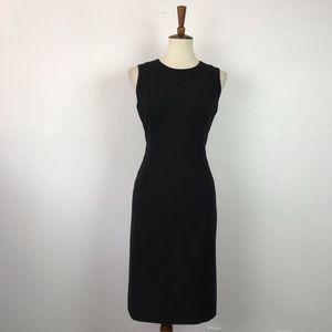 Calvin Klein Black Stretch Lined Sheath Dress D739